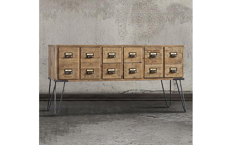 Aparador vintage boticario en for Muebles japoneses antiguos