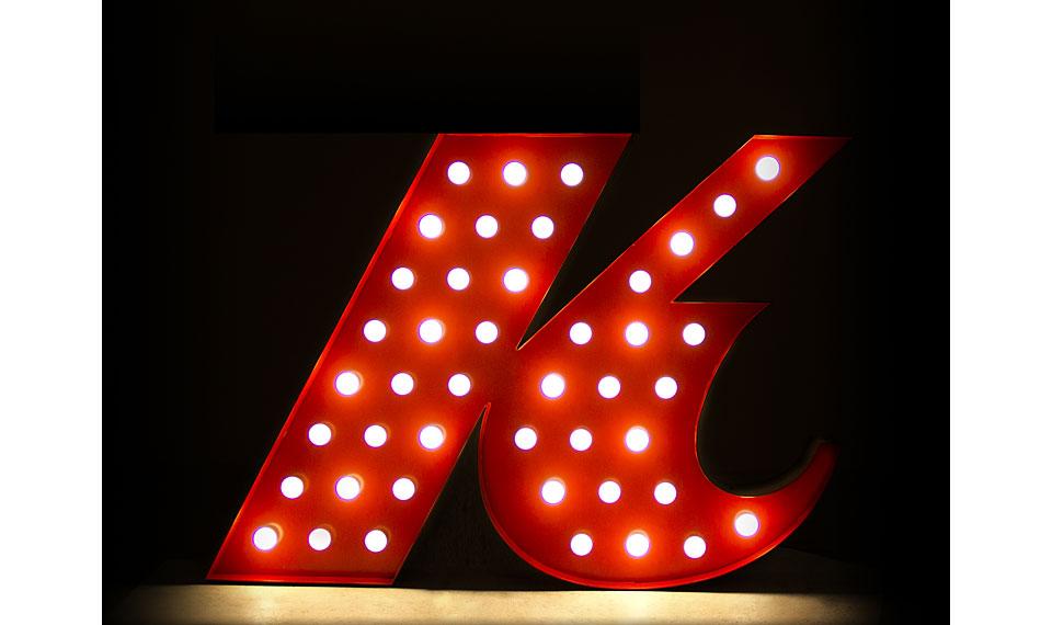 Aplique letra k rojo en - Portobellostreet es ...