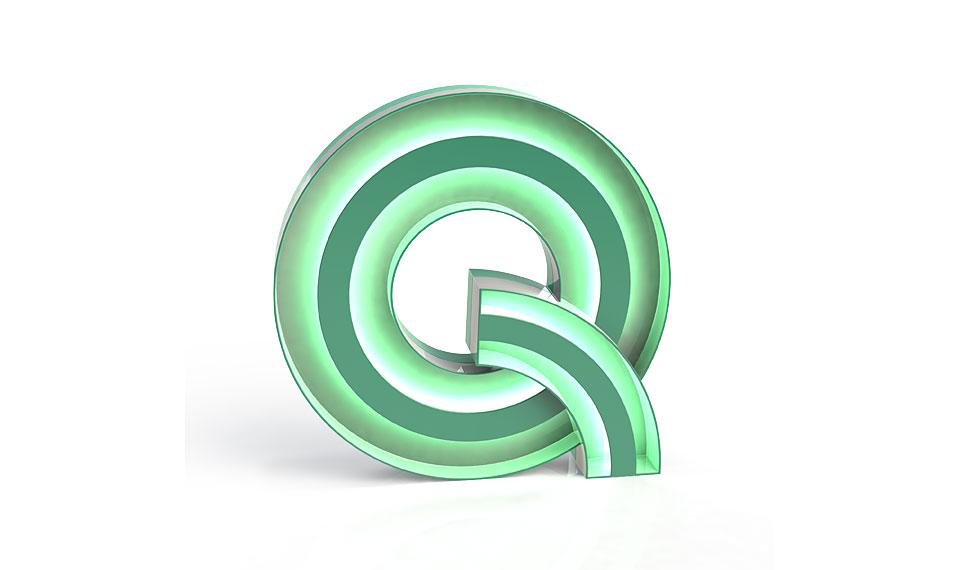 Muebles Martin Peñasco:  Aplique letra Q - Apliques y Plafones - Objetos de Decoración