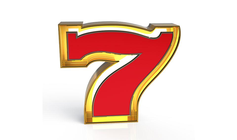 Aplique número 7 rojo