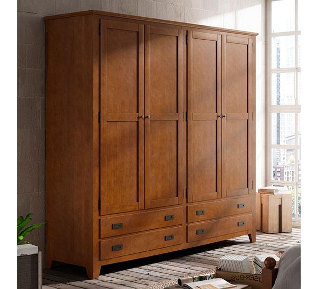 Armario 4 puertas colonial bora bora en for Portobello muebles coloniales