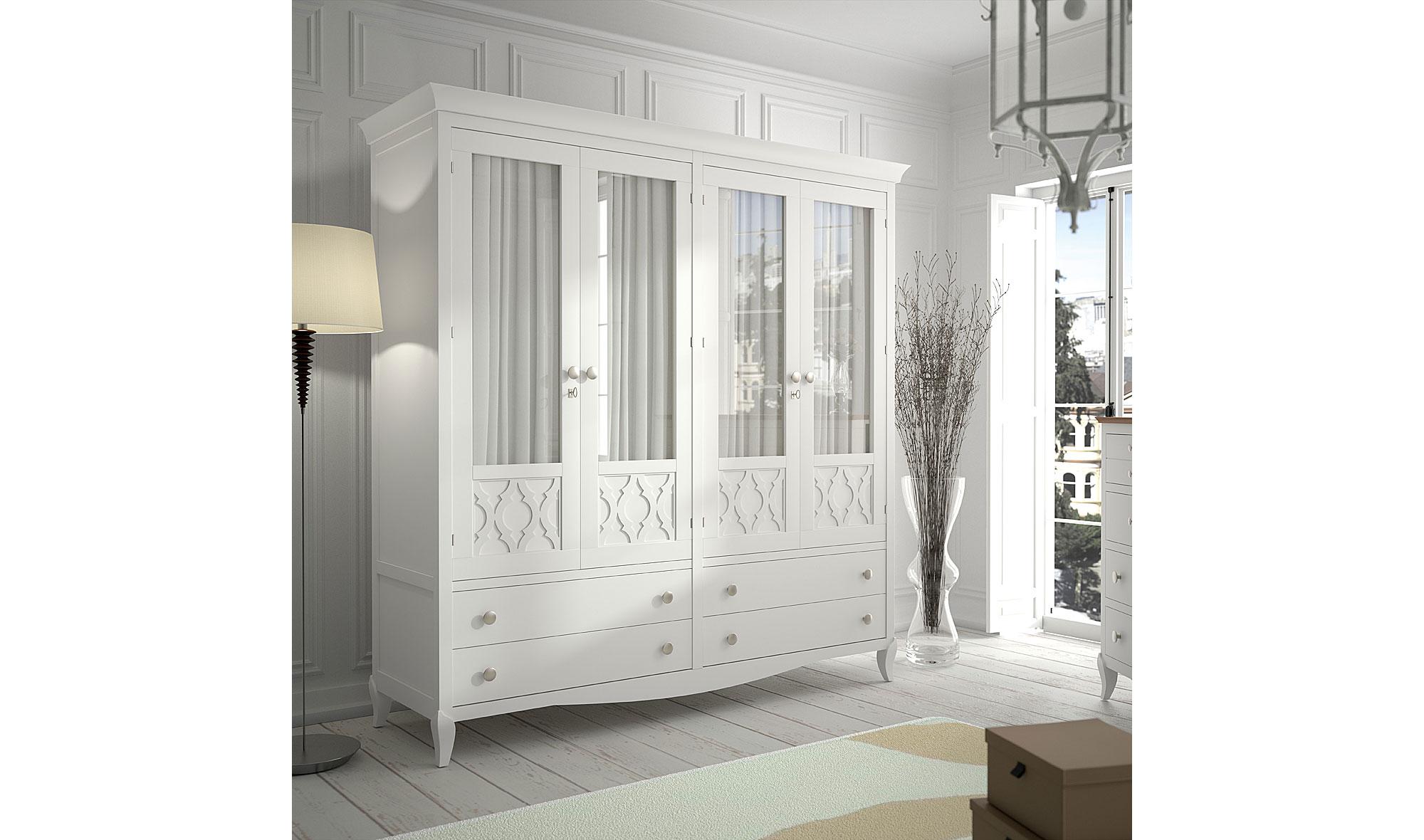 Armario vintage provenzal basilea de lujo en for Muebles salon provenzal