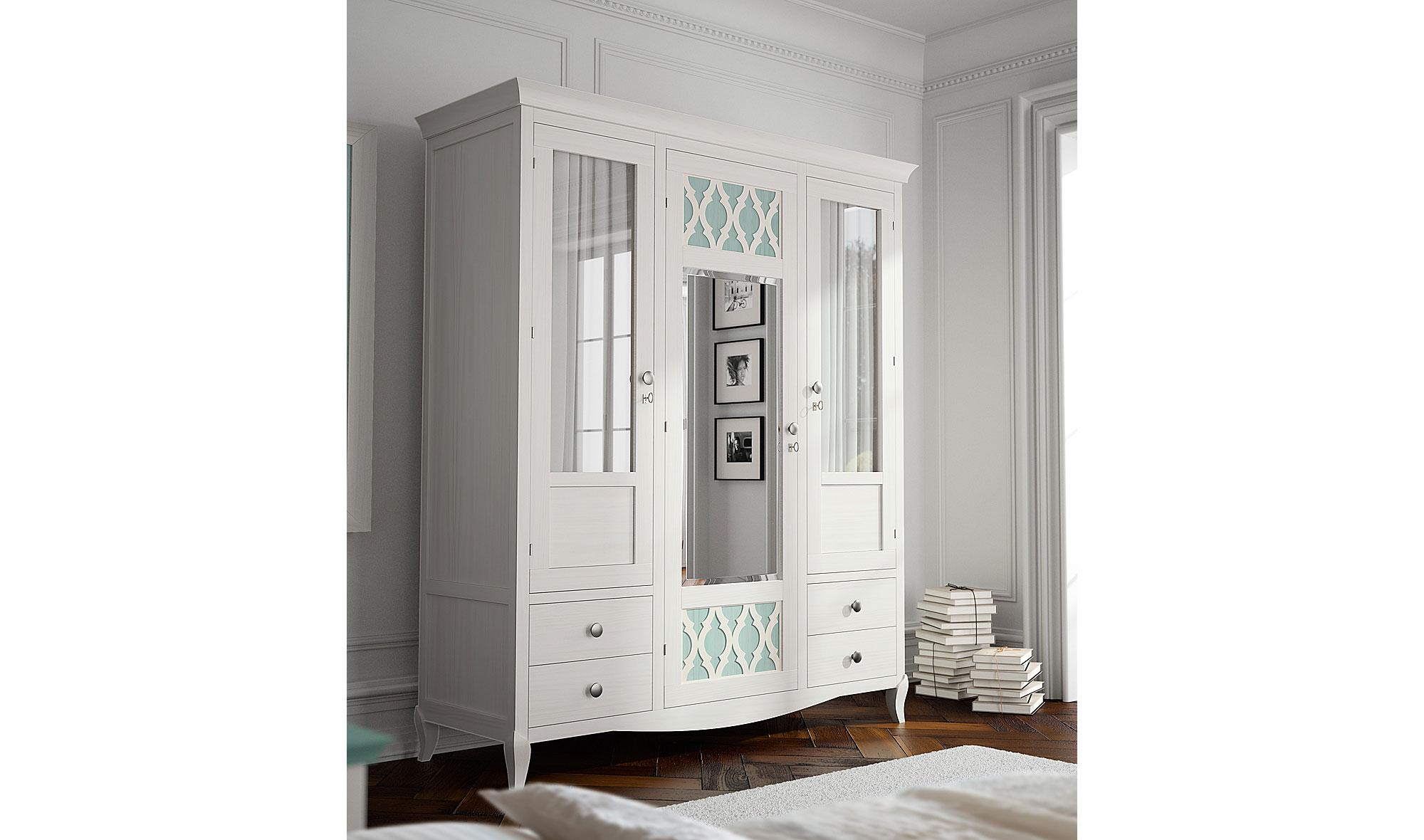 Armario vintage provenzal blanco basilea de lujo en - Muebles blancos ...