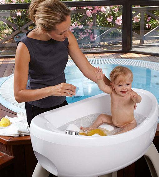 Bañera para bebe con hidromasaje y cromoterapia en Portobellostreet.es