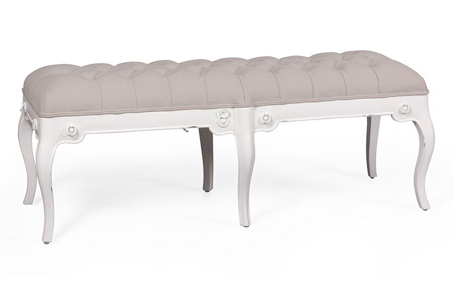 Banqueta pie de cama provenzal le blanc no disponible en for Bancos para pie de cama