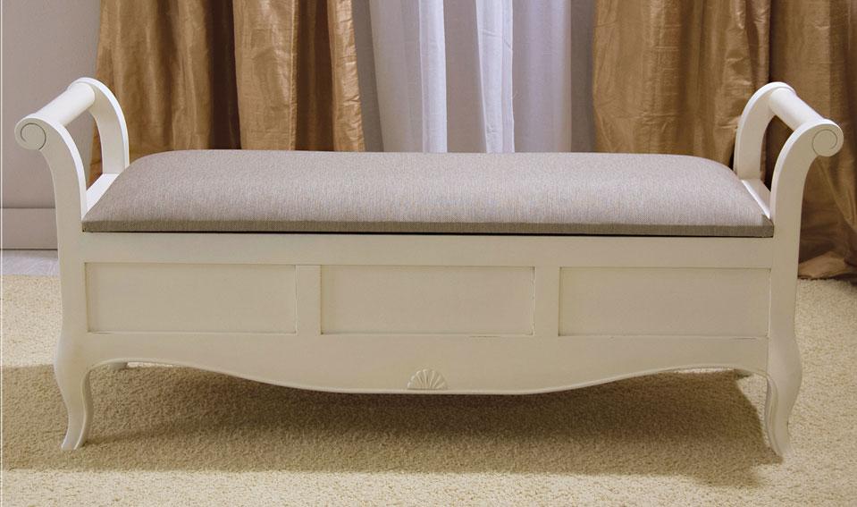 Banco ba l blanco vintage par s de lujo en - Muebles coloniales blancos ...