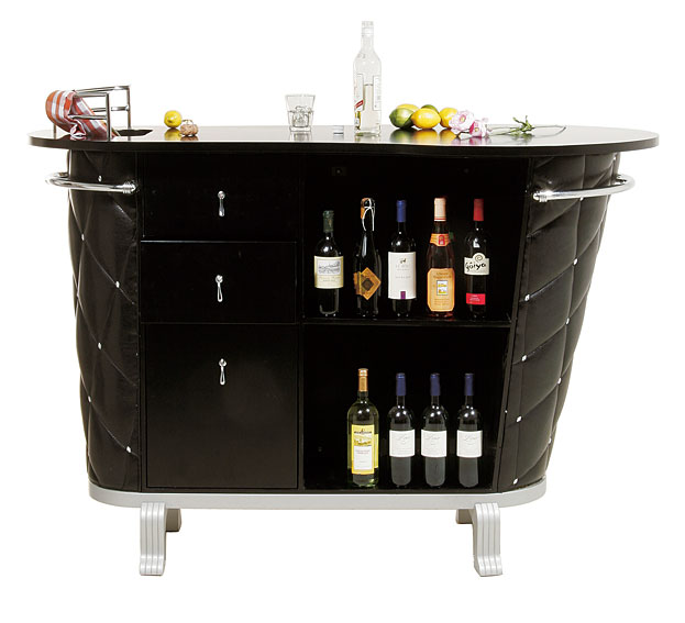 Barra de bar negra rockstar no disponible en - Mueble minibar ...