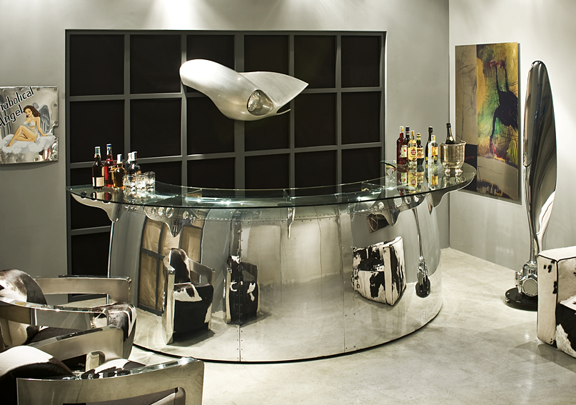 Barra de bar aeronautics fireball en for Mueble bar para salon comedor