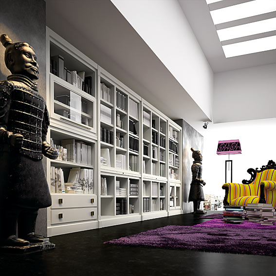 Biblioteca Contemporánea Huron de lujo en Portobellodeluxecom Tu
