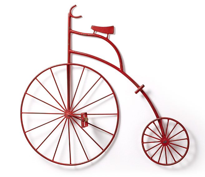 Bicicleta decorativa roja Cycle