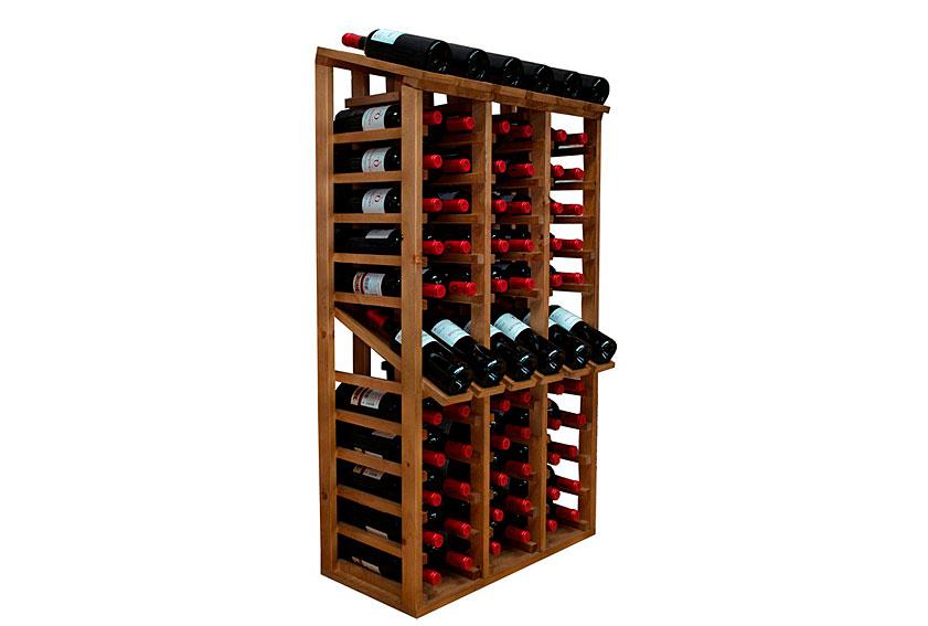 Botellero expositor capacidad para 72 botellas en cosas de for Muebles para vinotecas