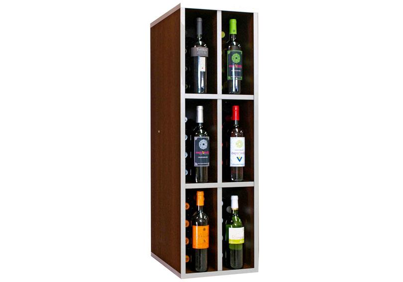 Botellero malbec 48 botellas vino en - Botelleros de madera rusticos ...