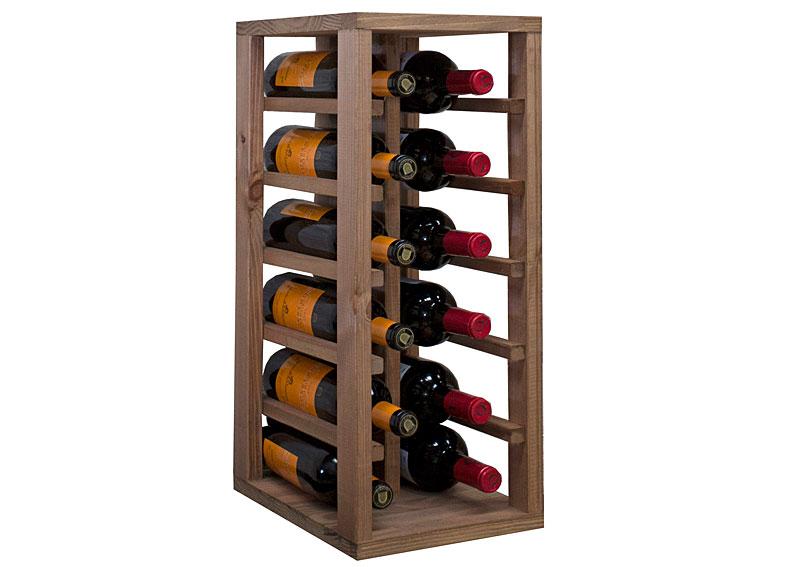 Botellero modular para 12 botellas vino en - Botelleros de madera para vino ...