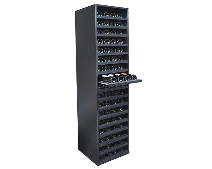 Botellero para vino merlot con capacidad para 68 botellas for Muebles para vinotecas