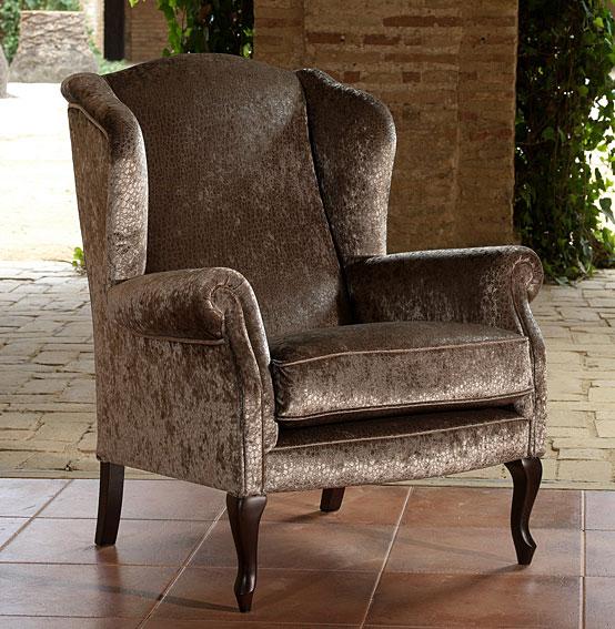 Butaca clasica versalles en for Sofas tapizados clasicos