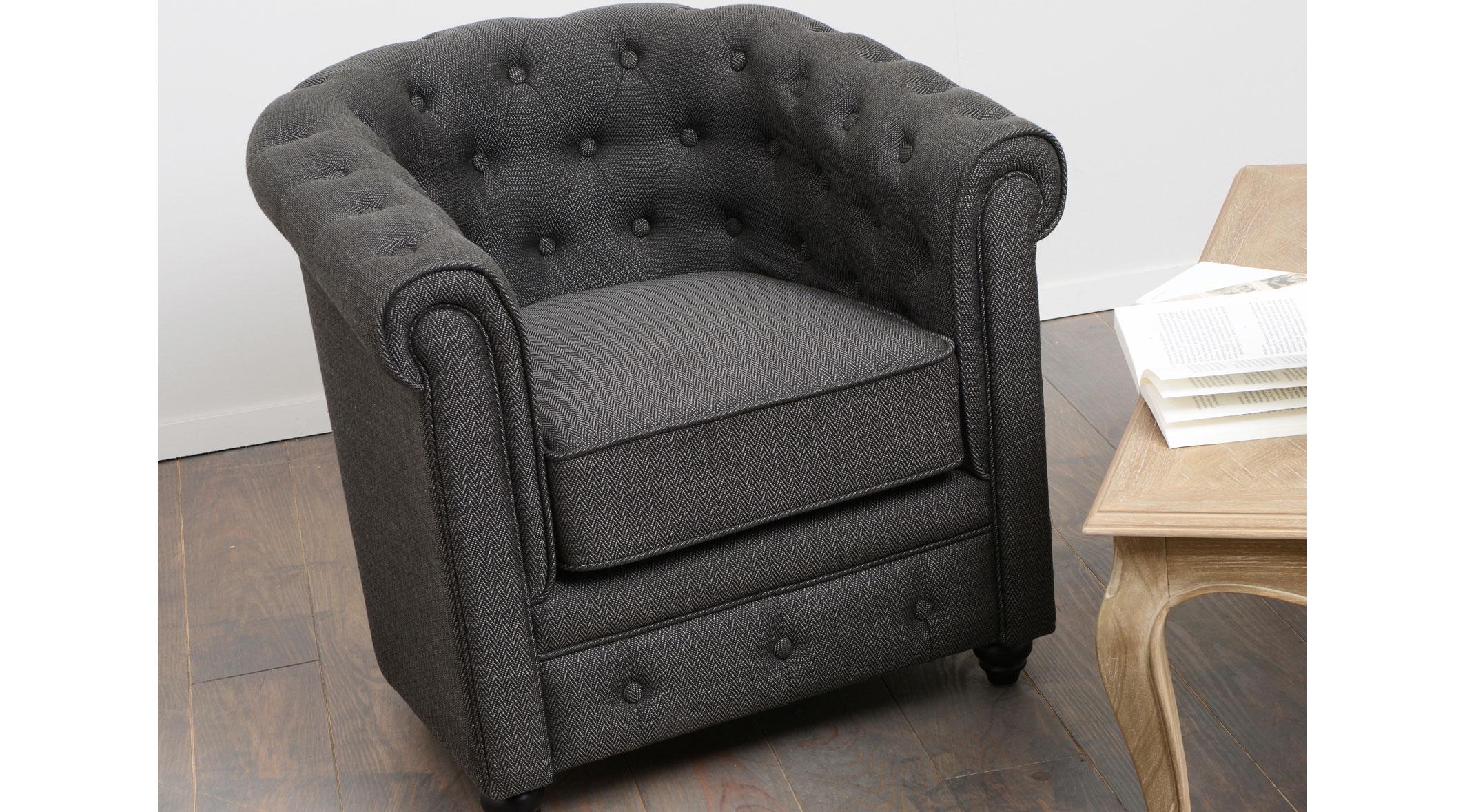 Butaca chester chevron gris oscuro no disponible en for Mueble gris oscuro
