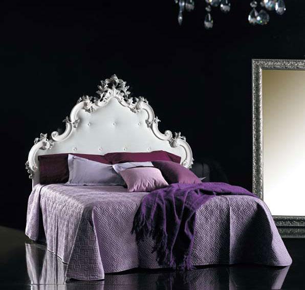 Cabeceros y camas de piel y tapizados de lujo en - Cabecero capitone blanco ...