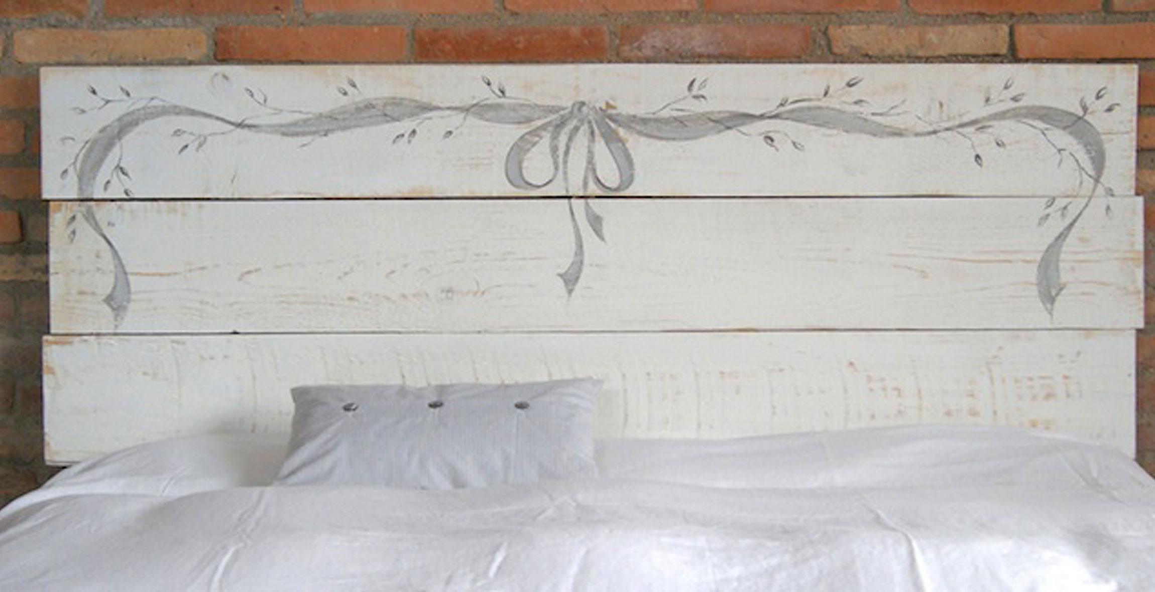 Cabecero vintage ribbon en - Cabeceros originales de madera ...
