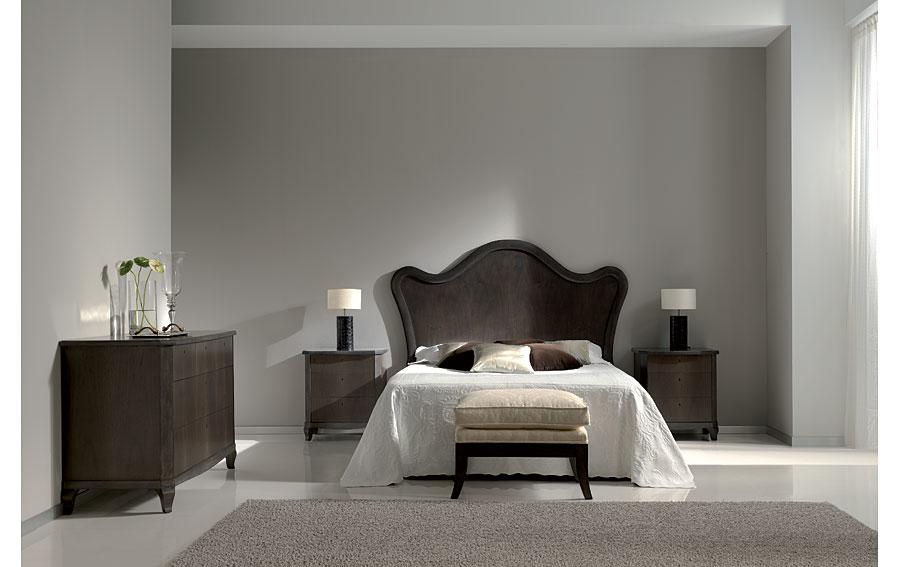 Cabecero de madera moderno para cama 150 chemi de lujo en for Dormitorio vintage moderno