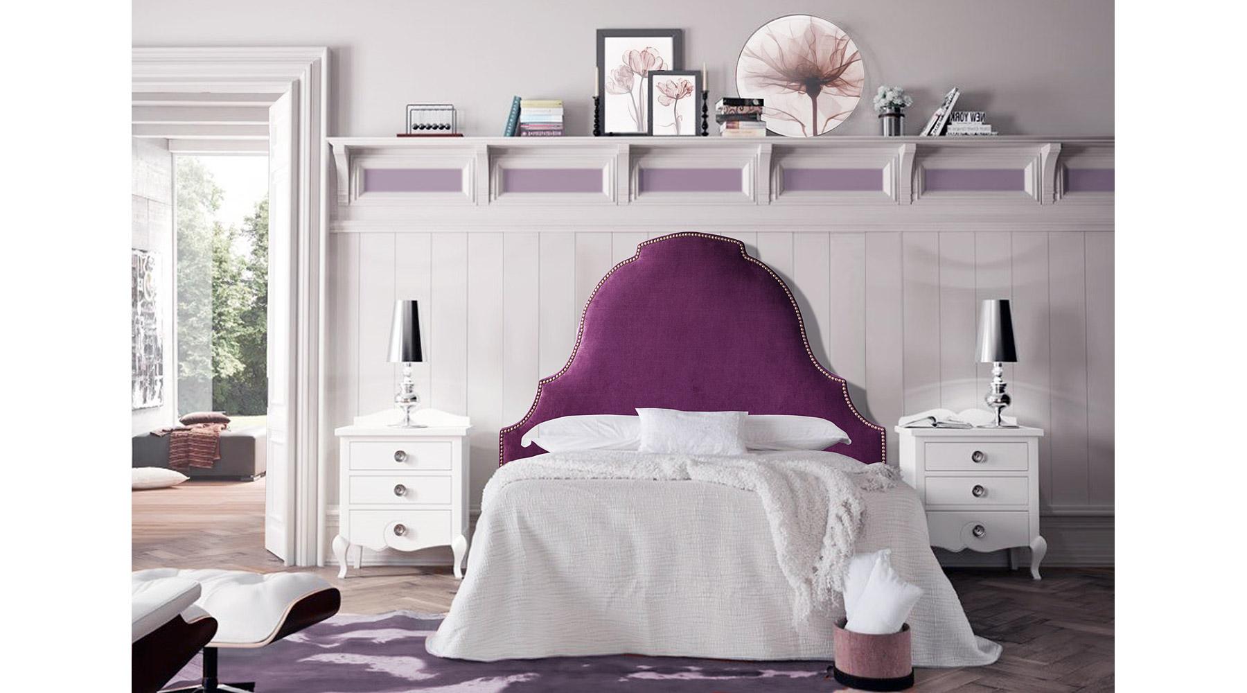 Cabecero vintage tapizado Chantilly de lujo en Portobellodeluxe.com ...