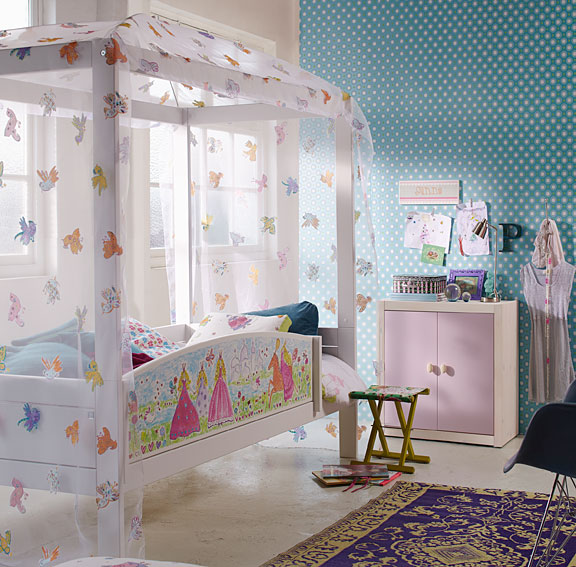 Cama con dosel Infantil Princess no disponible en Portobellostreet.es
