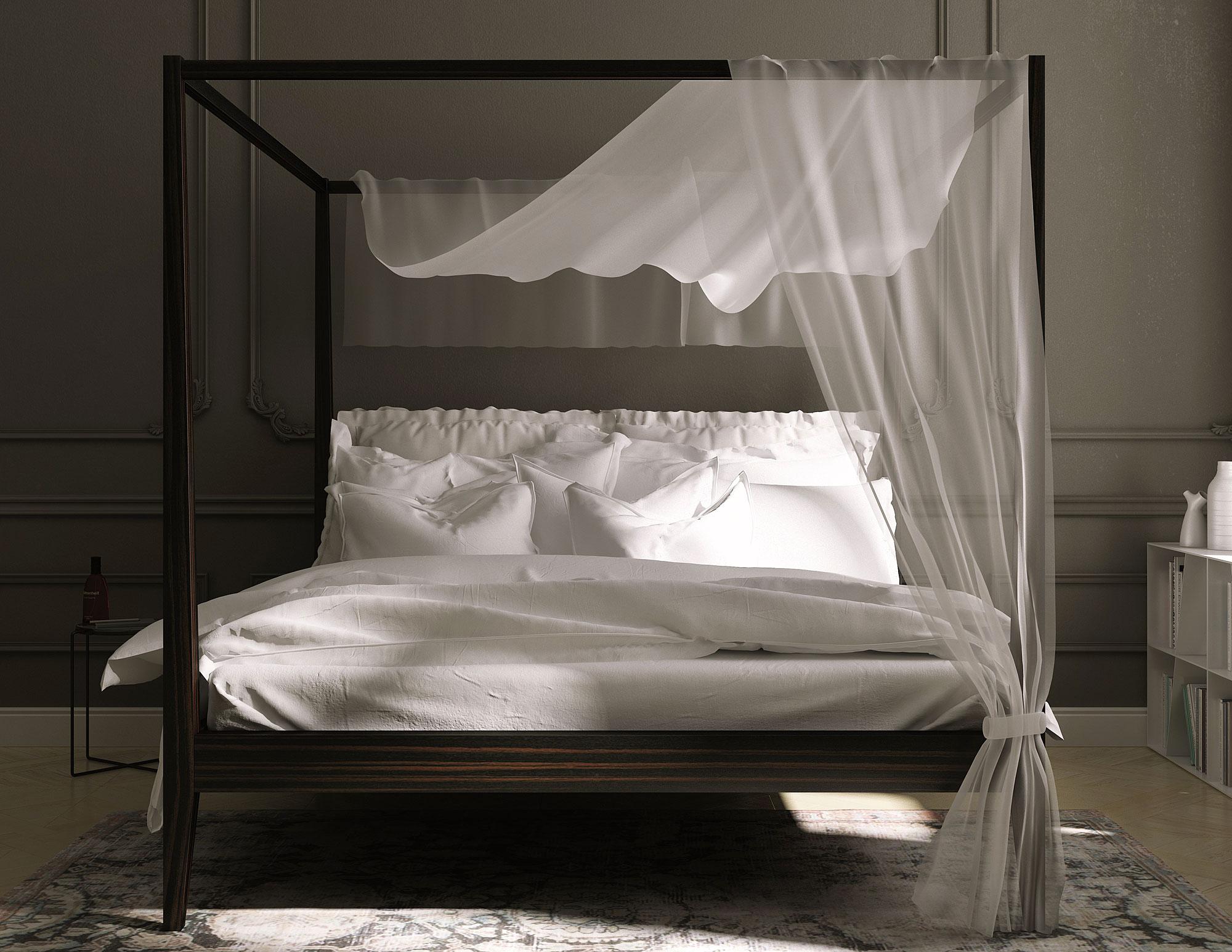 Cama con dosel moderna aida en - Disenos de camas ...