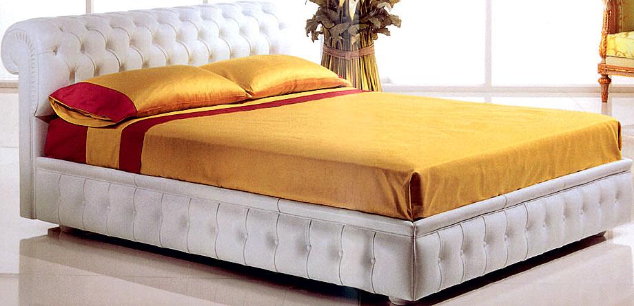Cama de piel clasica chester en - Cabeceros de cama con fotos ...