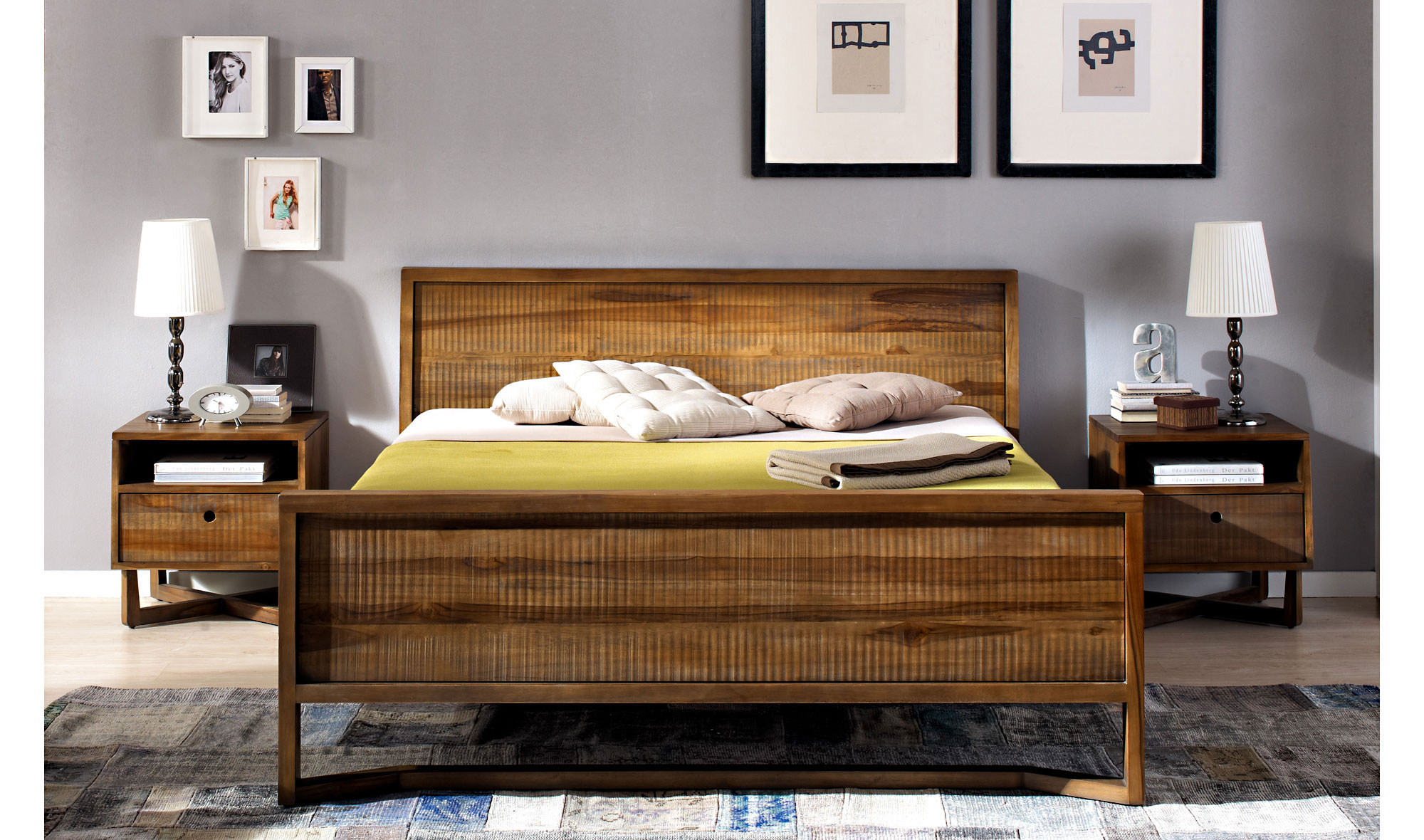 Cama vintage calvin en - Decoracion de cabeceros de cama ...