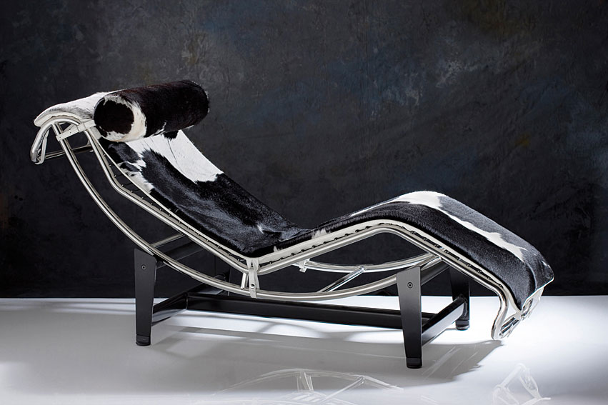 Chaise Longue piel de vaca natural
