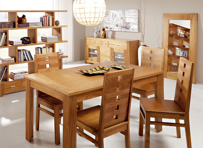 Comedor colonial natural no disponible en for Muebles comedores de madera