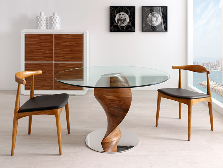 Comedor moderno benet no disponible en for Muebles contemporaneos de madera