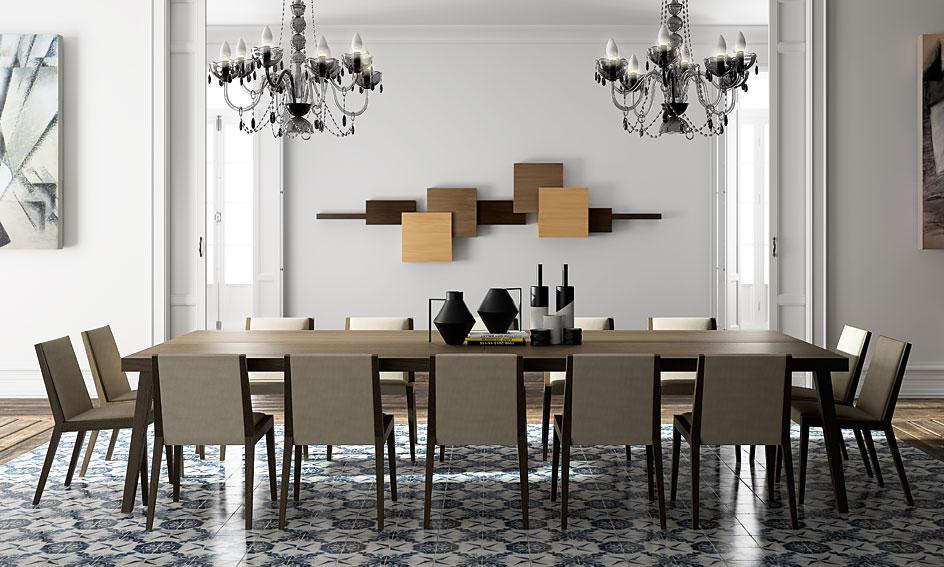 Comedor moderno jacqueline de lujo en for Comedor tapizado moderno