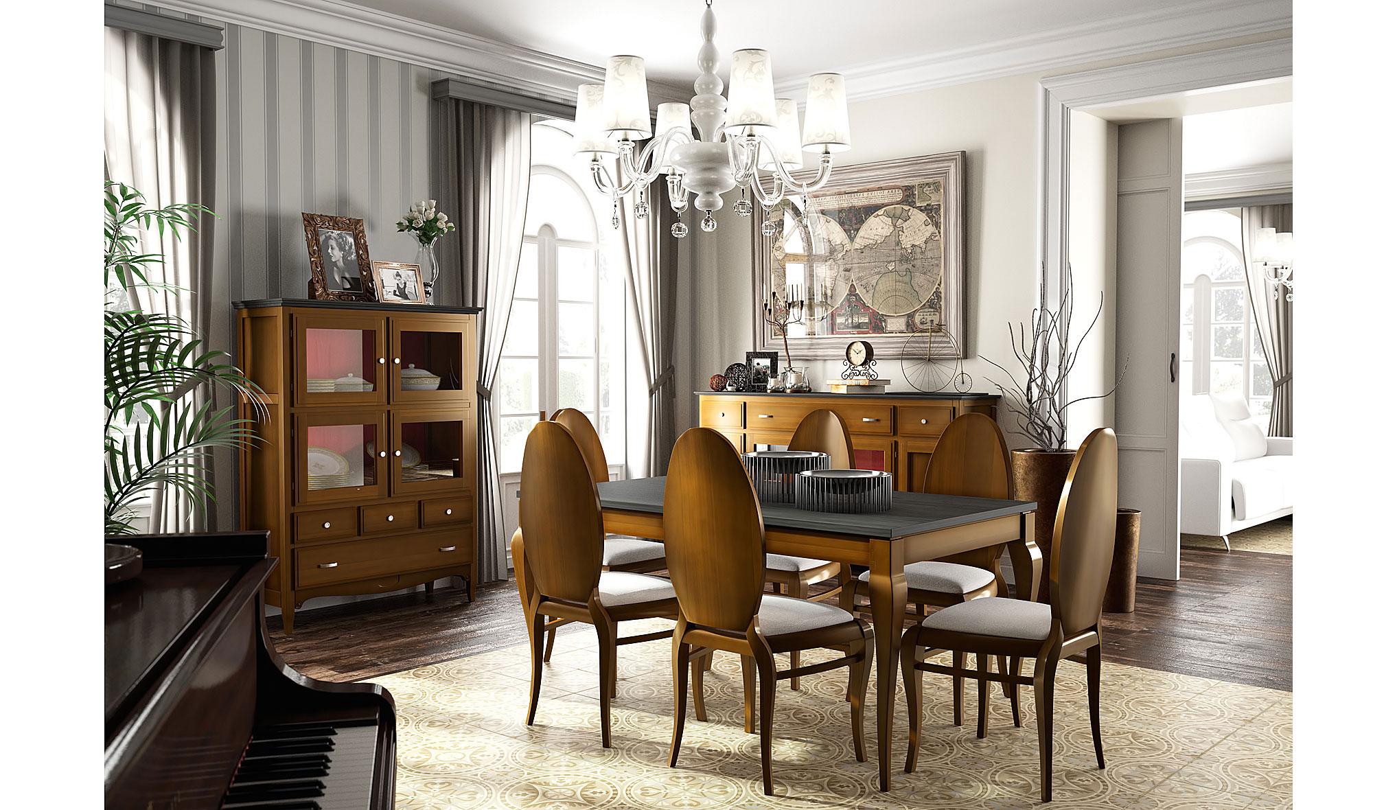 Comedor vintage provenzal coral Fontana