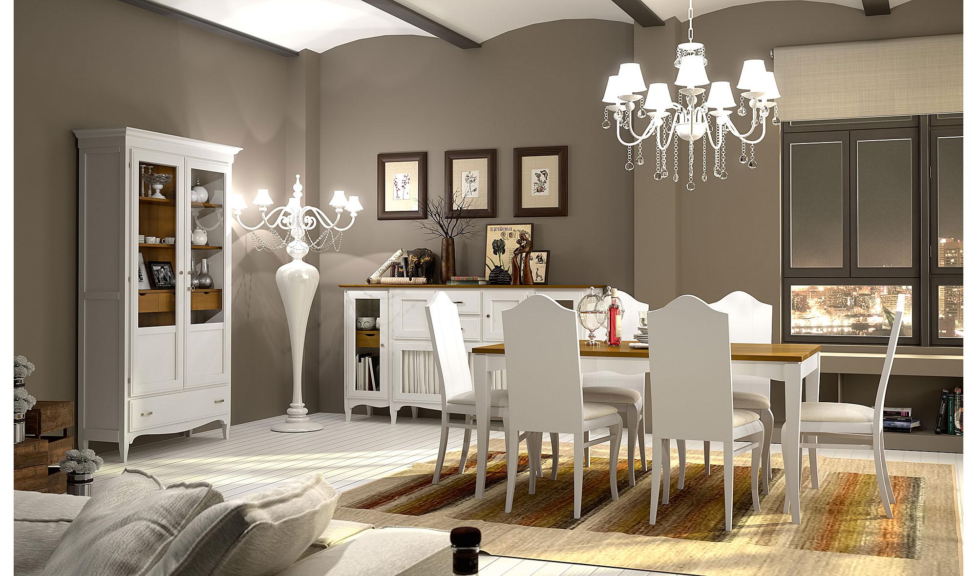 Comedor vintage provenzal tosca fontana en - Muebles decoracion vintage ...