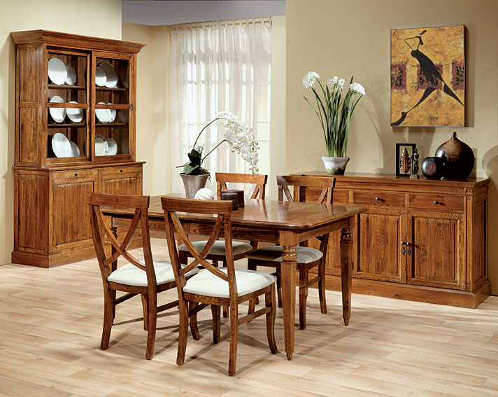 Comedor roble mombasa en for Muebles comedor madera