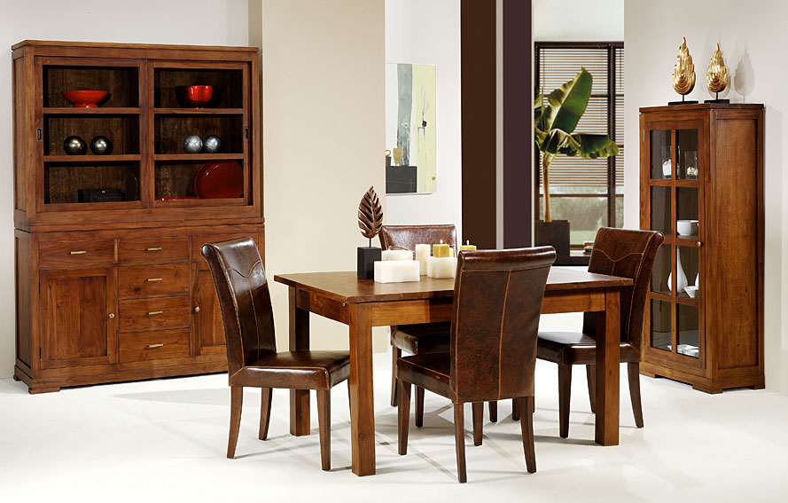 Mesa de comedor extensible mutiara no disponible en for Muebles y comedores