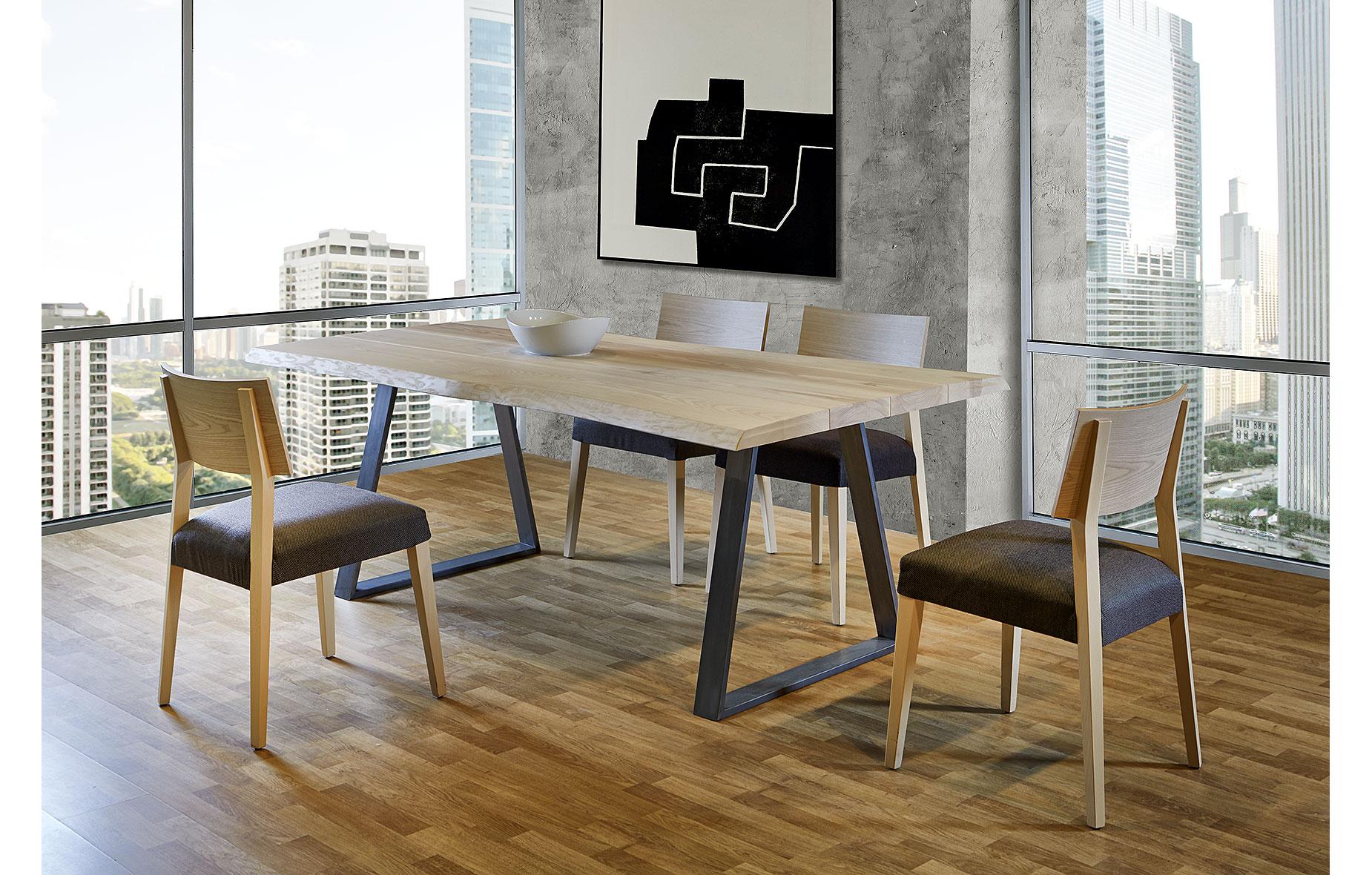 Mesa de comedor madera maciza roble Juli