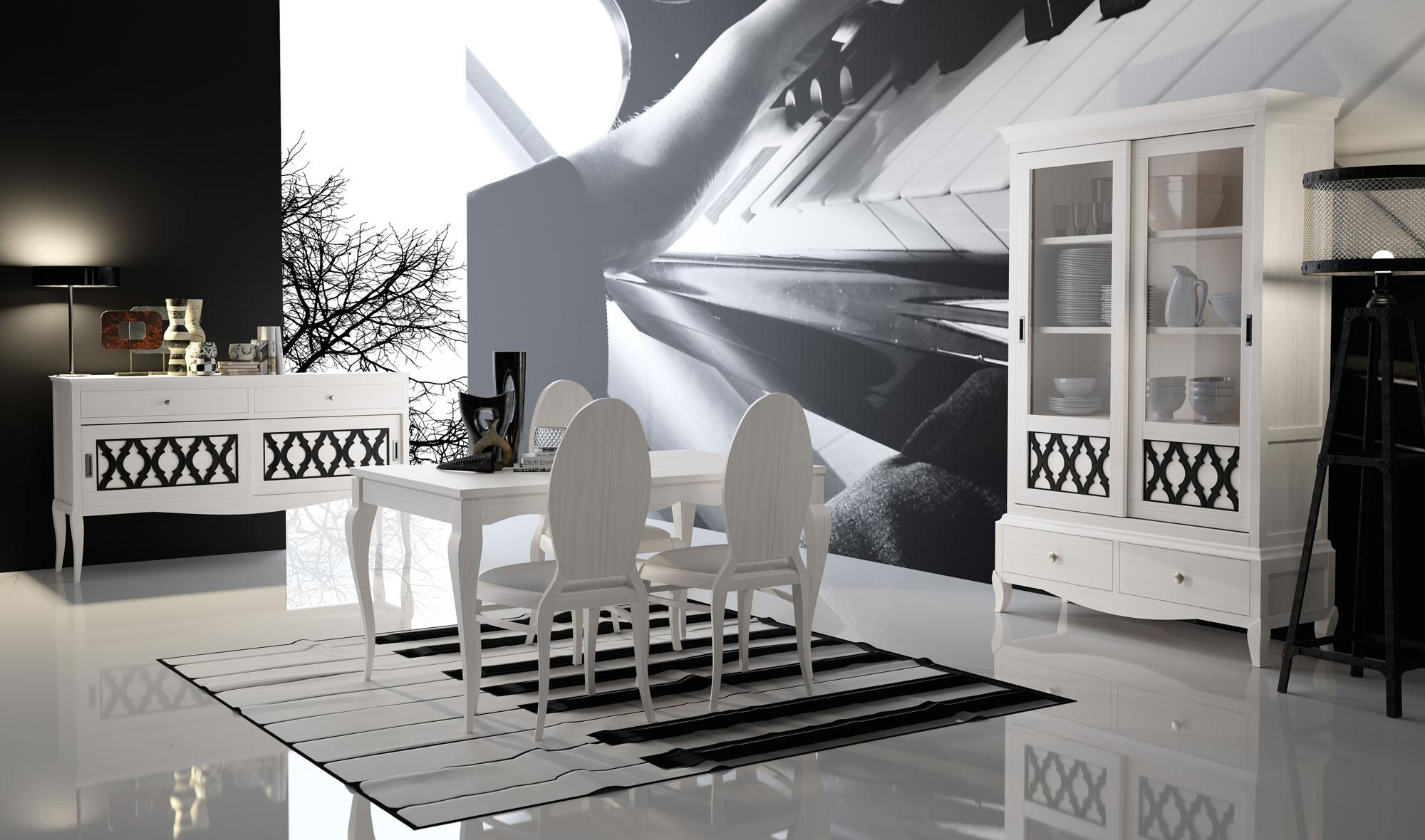 Comedor vintage provenzal basilea ii de lujo en for Muebles de salon completos