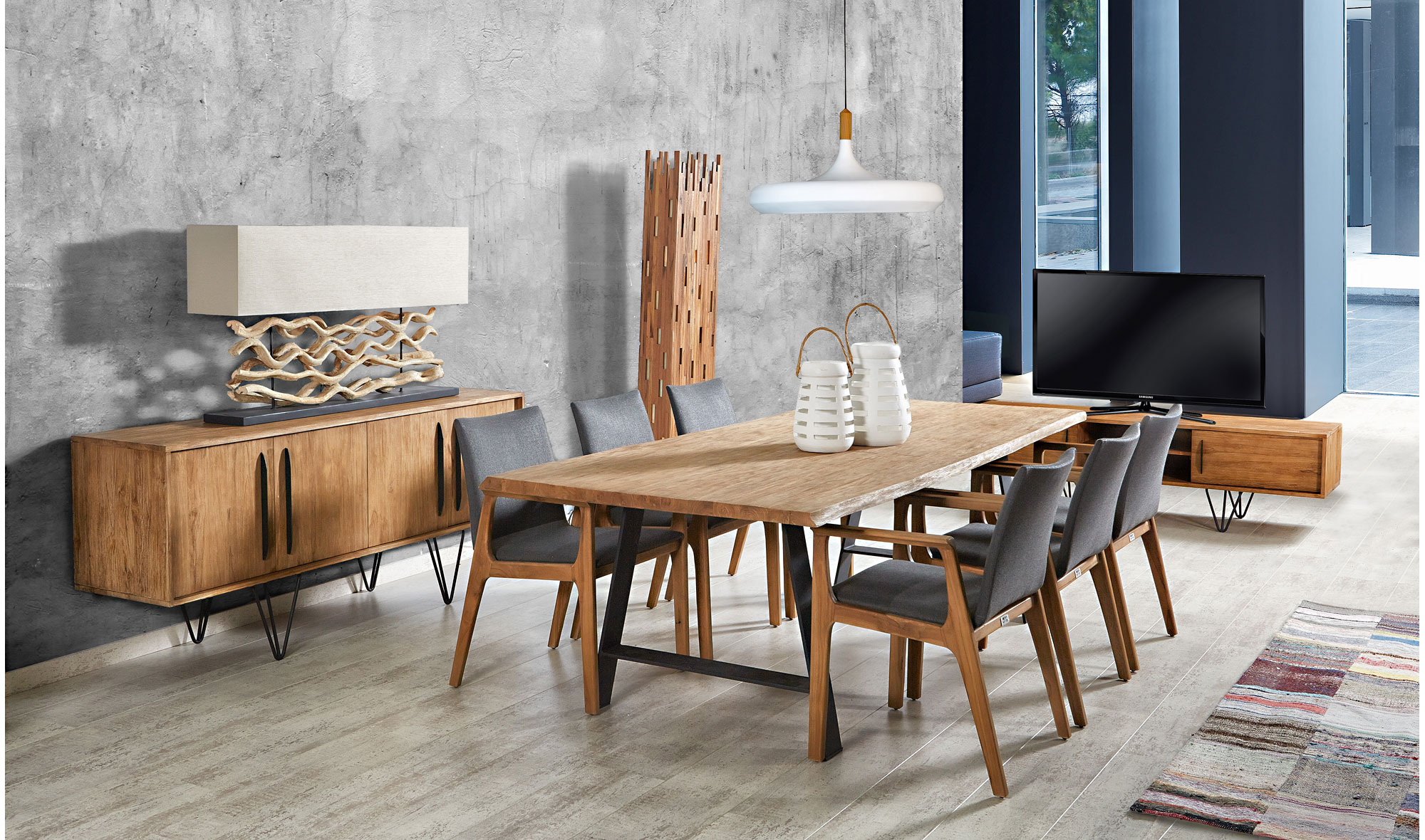 Comedor vintage lokken en for Muebles modernos para comedores pequenos
