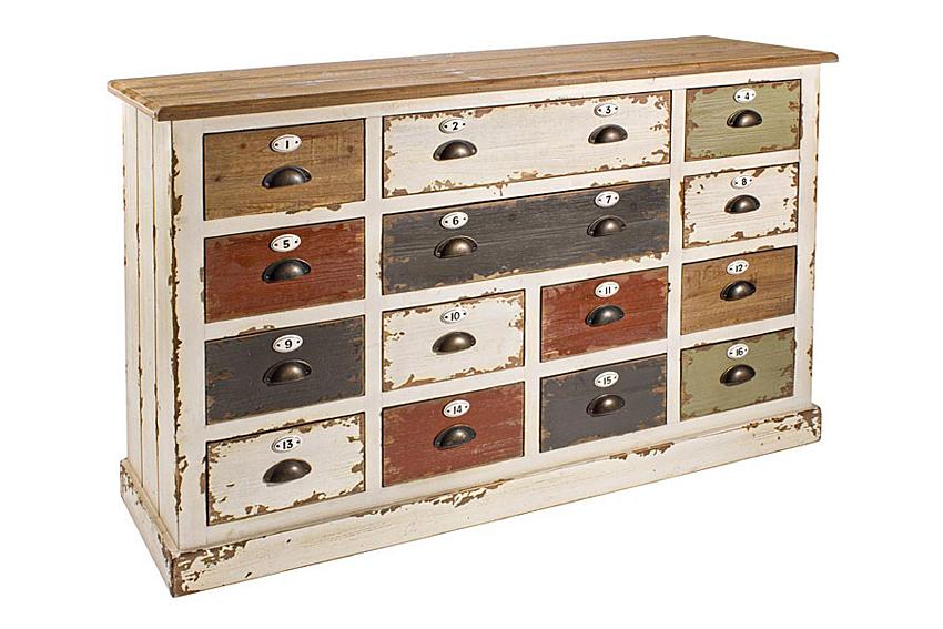 Mueble auxiliar 14 cajones vintage benny no disponible en - Muebles auxiliares merkamueble ...