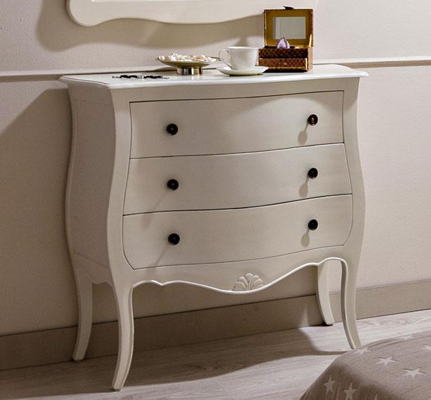 C moda 3 cajones blanca vintage par s en for Muebles de comedor vintage