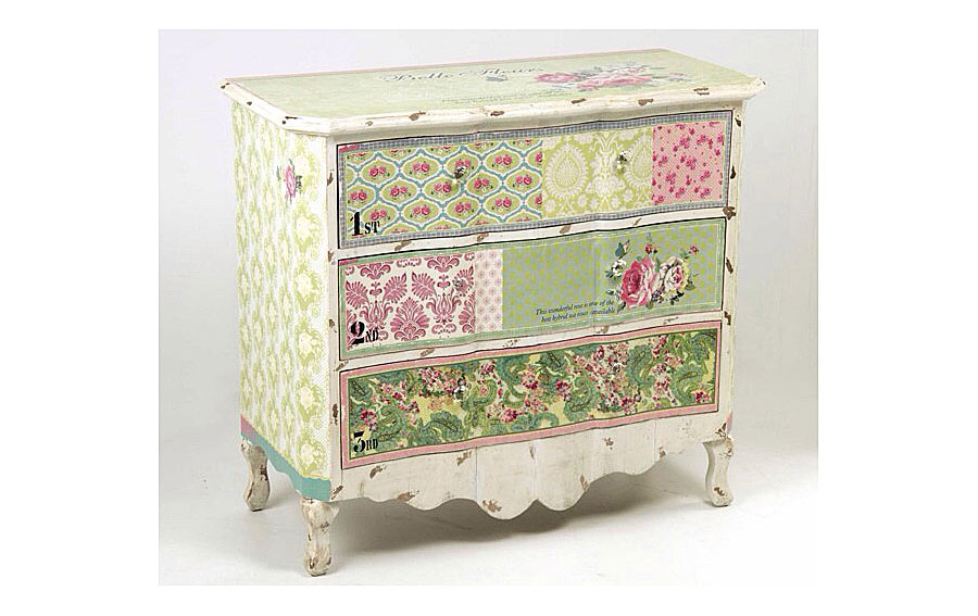 Productos similares a Cu00f3moda 3 cajones decoupage disponibles en ...