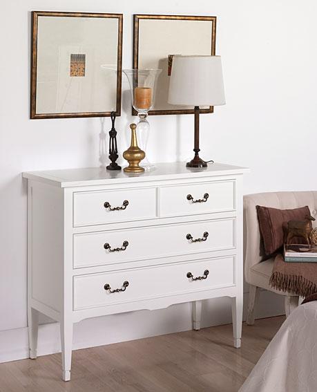 C moda blanca vintage madison en - Comodas antiguas blancas ...