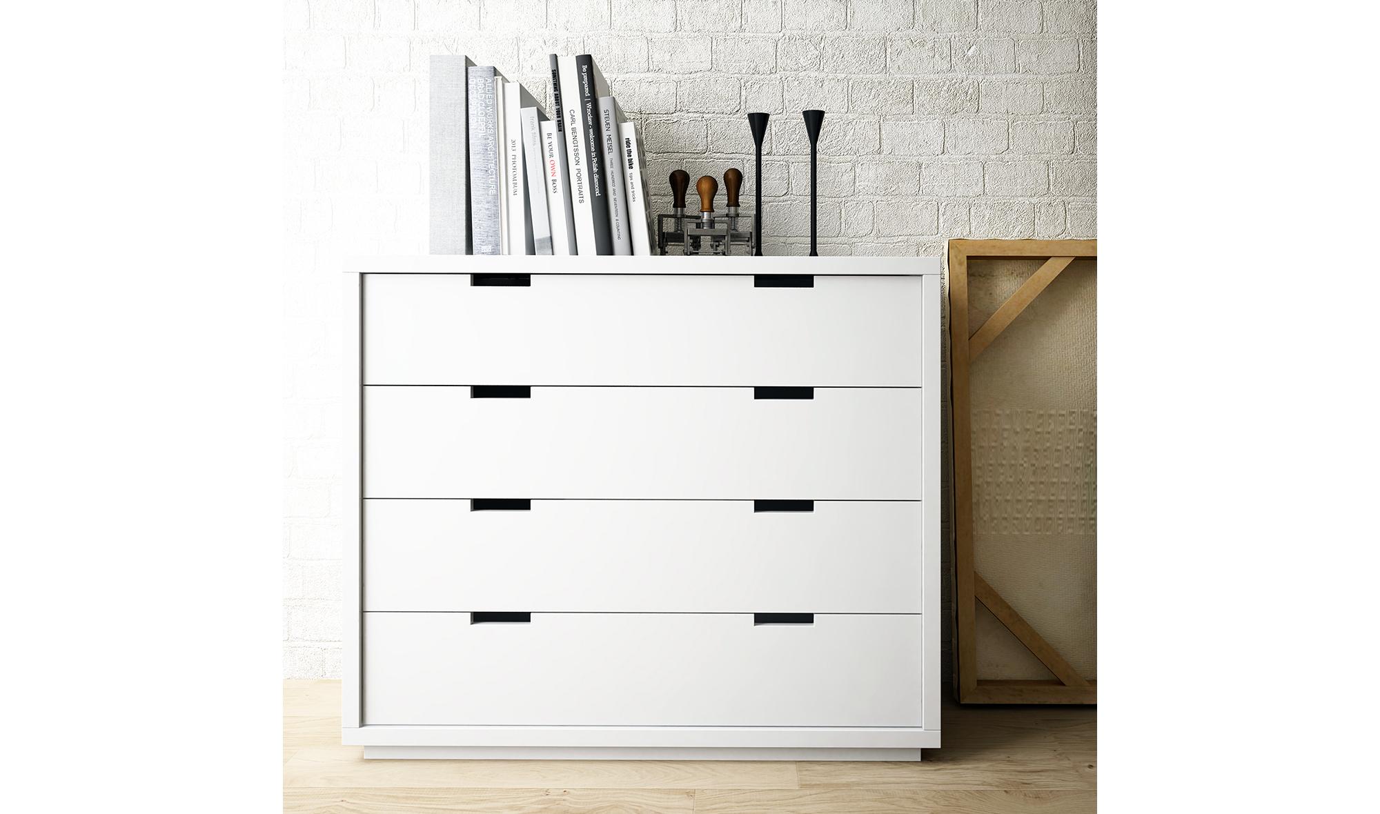 C Moda 4 Cajones N Rdica Carlton En Tu Tienda De # Muebles Nordicos