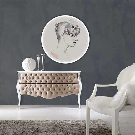 C moda capiton vintage luis xvi en for Muebles luis 15