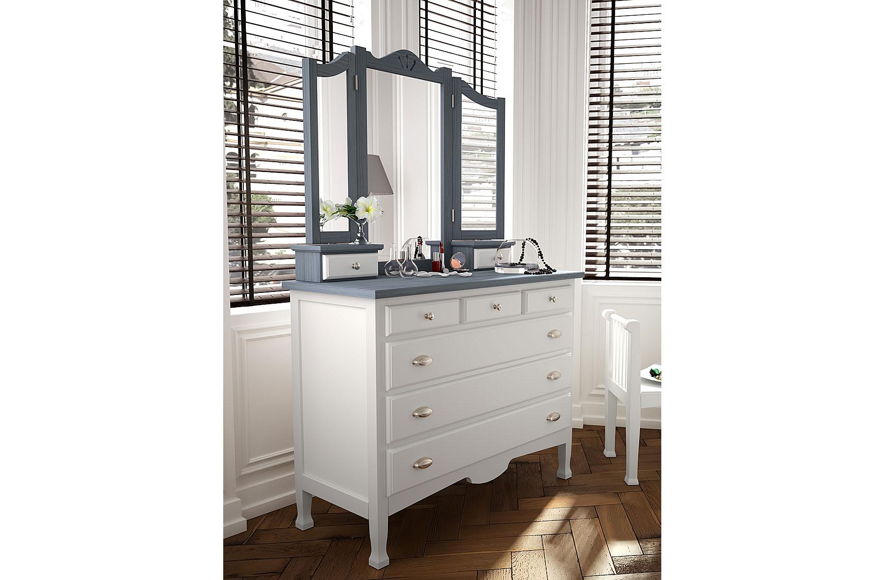Comoda con espejo provenzal decco ii de lujo en - Comoda con espejo ...