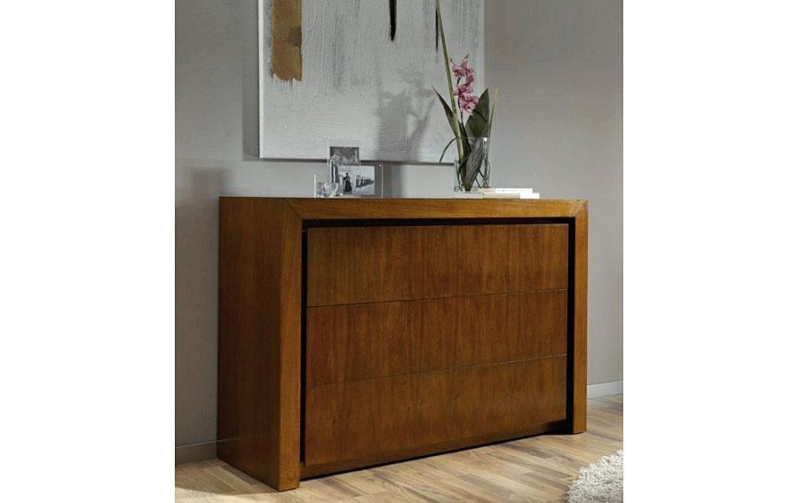 C moda moderna madera en for Comodas modernas para dormitorio