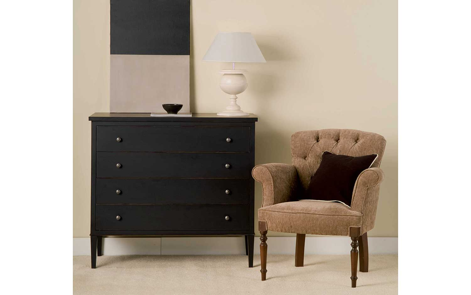 c moda vintage dijon negra en. Black Bedroom Furniture Sets. Home Design Ideas