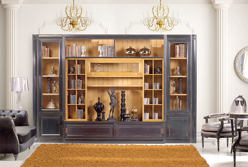Librer a cl sica huxley en for Muebles librerias para salon