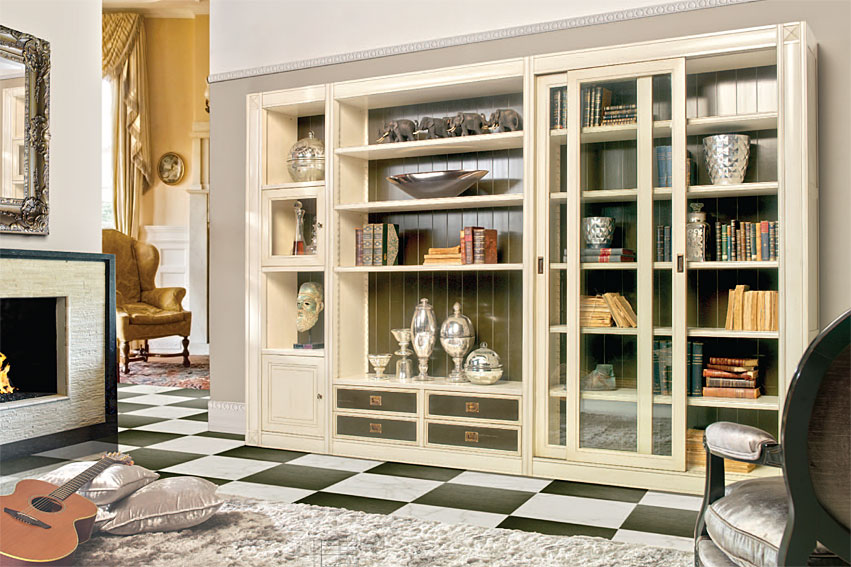 Librer a cl sica collins en for Muebles salon clasico moderno